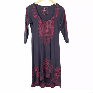 Johnny Was JW Los Angeles Embroidered Dress XS